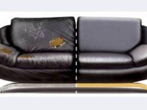 Перетяжка кожаного дивана в Раменском
